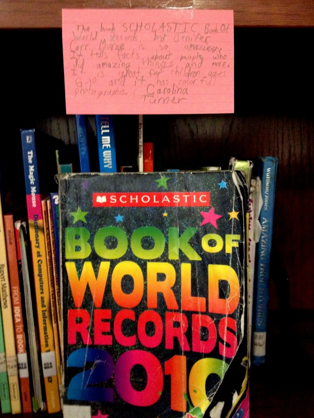The Scholastic Book of World Records, reviewed by Carolina