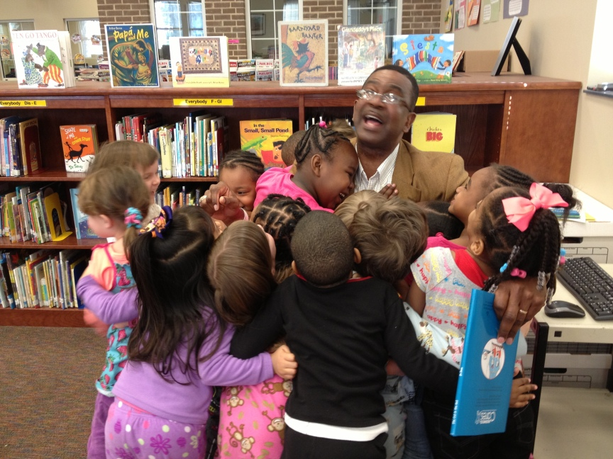 PreK group hug!Thank you, Sheriff Edwards!