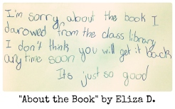 About the Book by Eliza D.