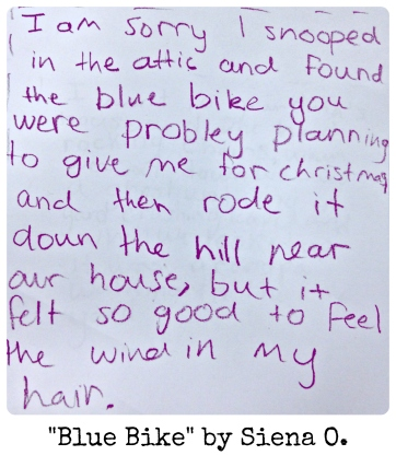 Blue Bike by Siena O.