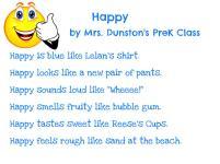 Mrs. Dunston's PreK - Happy