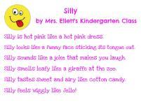 Mrs. Ellett's Kindergarten - Silly