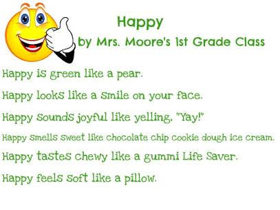 Mrs. Moore's 1st Grade - Happy