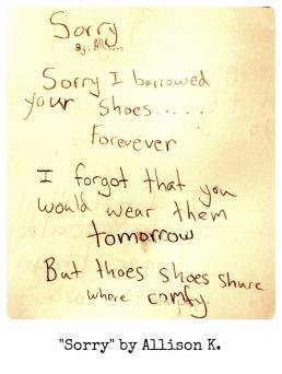 Sorry by Allison K.
