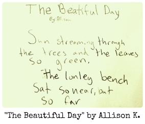 The Beautiful Day by Allison K.