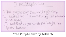 The Purple Car by Ietta V.