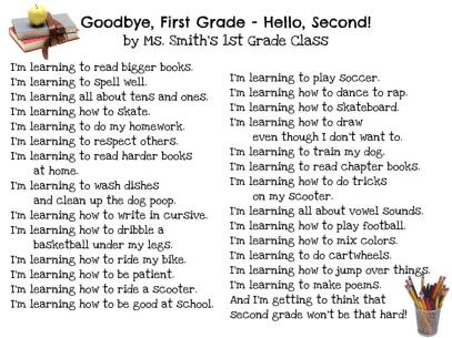 Goodbye 1st Grade, Hello 2nd by Ms. Smith's Class