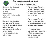 If We Were in Charge of the World... by Mr. Harrison's 2nd Grade Class