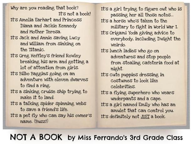 Not a Book by Miss Ferrando's Class