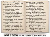 Not a Book by Mr. Brooks' Class