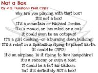 Not a Box by Mrs. Dunston's PreK Class