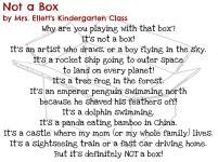 Not a Box by Mrs. Ellett's Kindergarten Class