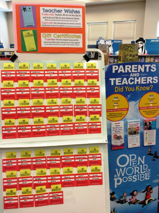 Except for items that we sold out of, ALL of teachers wishes were fulfilled!